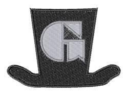 Dapper Hat Font G embroidery design