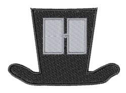 Dapper Hat Font H embroidery design