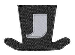 Dapper Hat Font J embroidery design