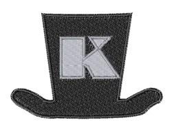 Dapper Hat Font K embroidery design