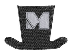 Dapper Hat Font M embroidery design
