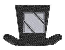 Dapper Hat Font N embroidery design