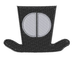 Dapper Hat Font O embroidery design