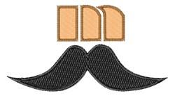 Mustache Font m embroidery design