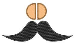 Mustache Font o embroidery design