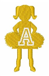 Cheerleader Font A embroidery design