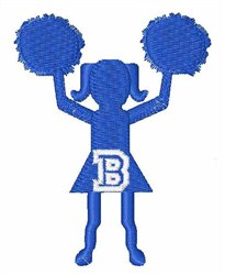 Cheerleader Font B embroidery design