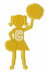 Cheerleader Font C embroidery design