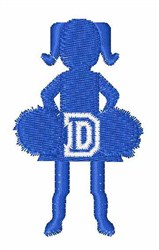 Cheerleader Font D embroidery design