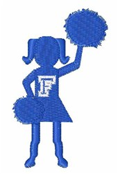 Cheerleader Font F embroidery design