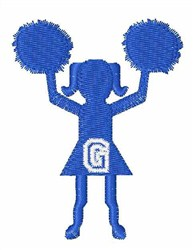 Cheerleader Font G embroidery design