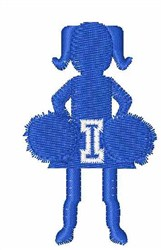Cheerleader Font I embroidery design