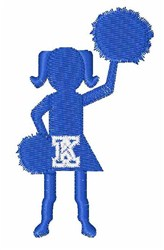Cheerleader Font K embroidery design