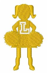Cheerleader Font L embroidery design