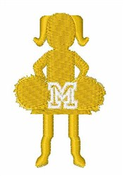 Cheerleader Font M embroidery design