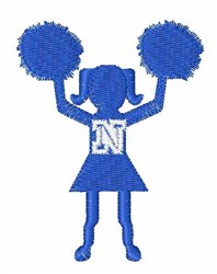Cheerleader Font N embroidery design