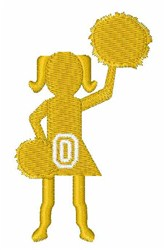 Cheerleader Font O embroidery design