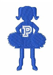 Cheerleader Font P embroidery design