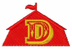 Circus Tent Font D embroidery design