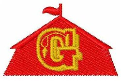 Circus Tent Font G embroidery design