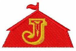 Circus Tent Font J embroidery design