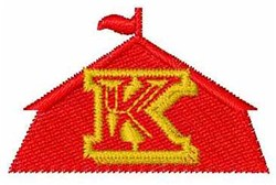 Circus Tent Font K embroidery design