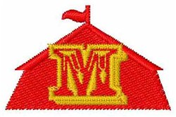 Circus Tent Font M embroidery design