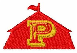 Circus Tent Font P embroidery design