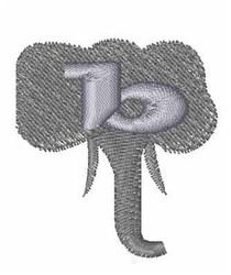 Elephant Font b embroidery design