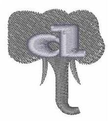 Elephant Font d embroidery design
