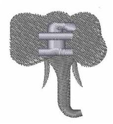 Elephant Font f embroidery design