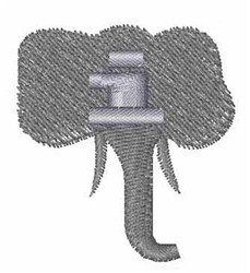 Elephant Font i embroidery design