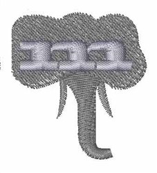 Elephant Font m embroidery design