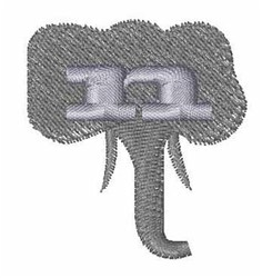 Elephant Font n embroidery design