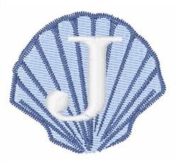 Sea Shells Font J embroidery design