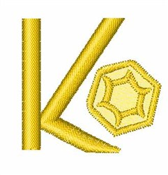 Gemstones Font K embroidery design
