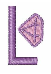 Gemstones Font L embroidery design