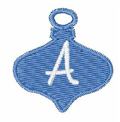 Christmas Ornament Font A embroidery design