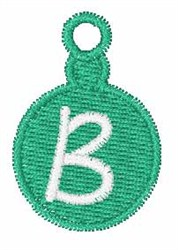 Christmas Ornament Font B embroidery design