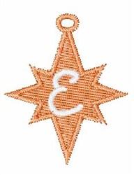 Christmas Ornament Font E embroidery design
