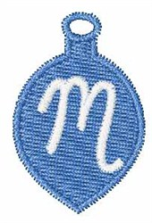 Christmas Ornament Font M embroidery design