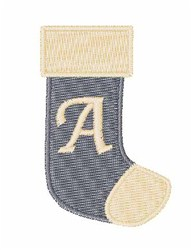 Stocking Font A embroidery design