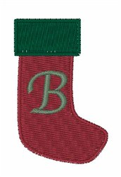 Stocking Font B embroidery design