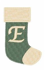 Stocking Font E embroidery design