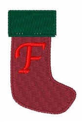 Stocking Font F embroidery design