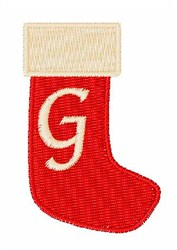 Stocking Font G embroidery design