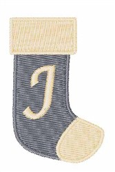Stocking Font J embroidery design