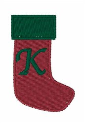Stocking Font K embroidery design