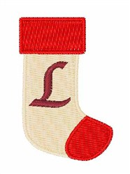 Stocking Font L embroidery design
