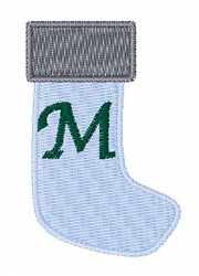 Stocking Font M embroidery design